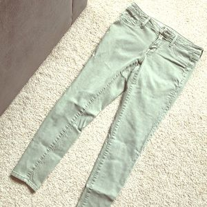 Olive green denim Jeggings Great condition